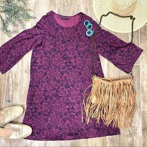 Gudrun sjoden purple plum floral botanical dress